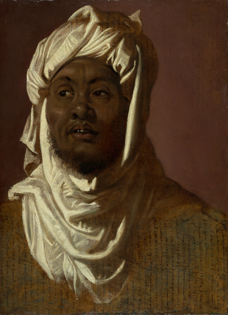 The Head of an African Man Wearing a Turban; Peter Paul Rubens (Flemish, 1577 - 1640); Antwerp, Southern Netherlands; about 1609–1611; Oil on paper laid down on panel; Sheet: 54 × 39.3 cm (21 1/4 × 15 1/2 in.); 2018.48; The J. Paul Getty Museum, Los Angeles; Rights Statement: No Copyright - United States