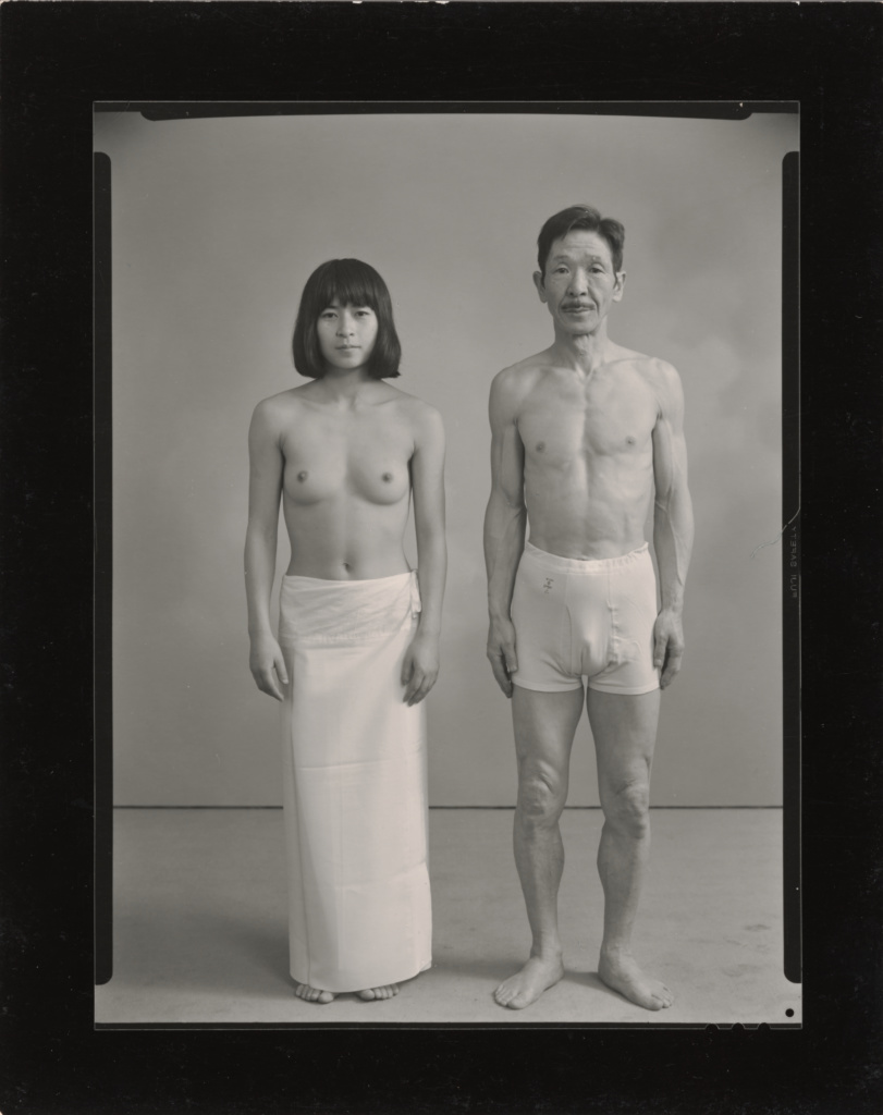 From the left: Actor K and Sukezo; Masahisa Fukase (Japanese, 1934 - 2012); 1972; Gelatin silver print; 21.1 × 16.1 cm (8 5/16 × 6 5/16 in.); 2018.46.4; Rights Statement: In Copyright; Copyright: © Masahisa Fukase Archives