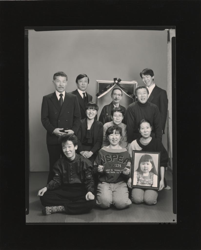 From the upper left: Masahisa, Toshiteru, a photo of Suzeko, Takuya. From the middle left: Akiko, Mitsue and Hisashi Daikouji. From the bottom left: Manabu, Kyoko, Kanako and a photo of Miyako; Masahisa Fukase (Japanese, 1934 - 2012); 1987; Gelatin silver print; 21.1 × 16.1 cm (8 5/16 × 6 5/16 in.); 2018.46.6; Rights Statement: In Copyright; Copyright: © Masahisa Fukase Archives