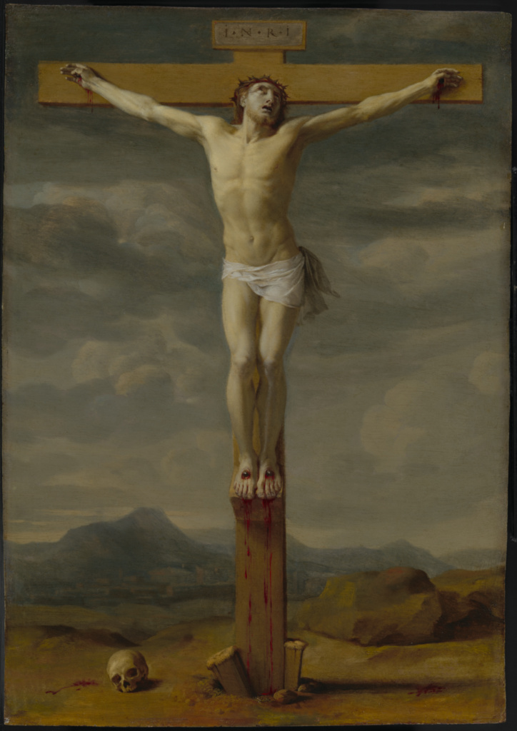 Crucifixion; Eustache Le Sueur (French, 1616 - 1655); France; about 1650–1655; Oil on copper; 47.5 × 34 cm (18 11/16 × 13 3/8 in.); 2019.21; The J. Paul Getty Museum, Los Angeles; Rights Statement: No Copyright - United States