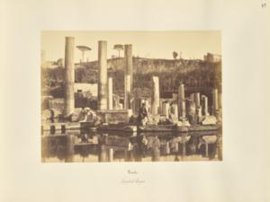 Pouzzoles. Temple de Serapis. (1857), Giorgio Sommer (Italian, born Germany, 1834 - 1914)