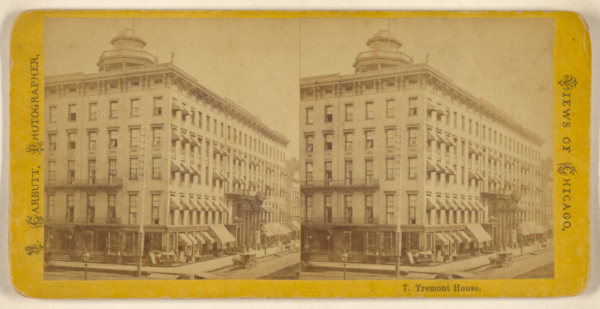 This is What John Carbutt and Tremont House Looked Like  in 1866